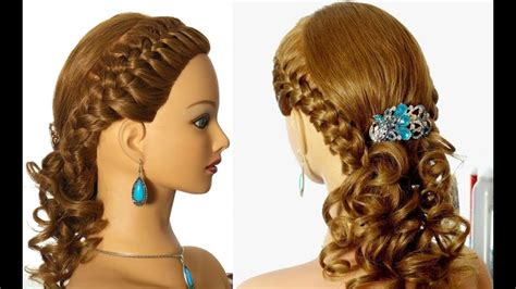 Romantic Braided Prom Hairstyle For Long Hair.
