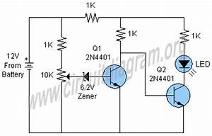 simple battery monitor circuit diagram With led light simple circuit diagram fully stocked led lighting store
