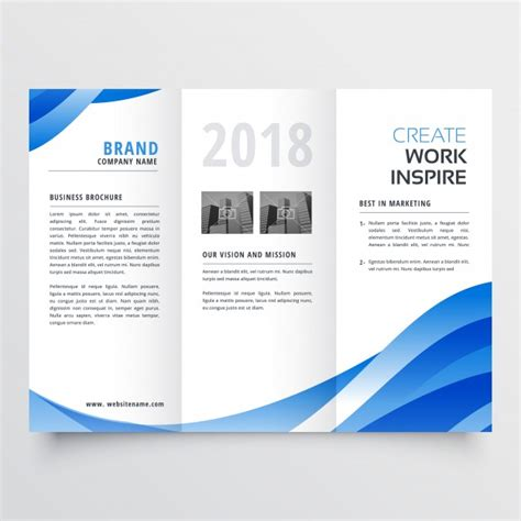Creative Brochure Templates Free by Creative Trifold Brochure Template Vector Free
