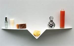 Etagere 80 Cm : etag re murale moderne blanche 80 cm tablette murale design ~ Teatrodelosmanantiales.com Idées de Décoration
