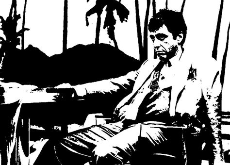 Tony Montana  Black N White By Albanez1992 On Deviantart