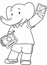 Camera Coloring Polaroid Babar Elephant Getdrawings Drawing Idea Whitesbelfast Credit sketch template