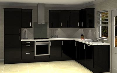white kitchen cabinets with black island northton kitchens and bathrooms