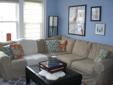plain blue gray color scheme for living room ideas and