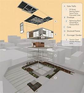 Solar Roofpod Exploded Axonometric