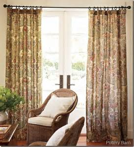 pottery barn simone floral drapes 50 x 108 quot l set of 2