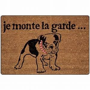 Paillasson D Entrée : paillasson imprim chien tapis d 39 entr e eminza ~ Teatrodelosmanantiales.com Idées de Décoration