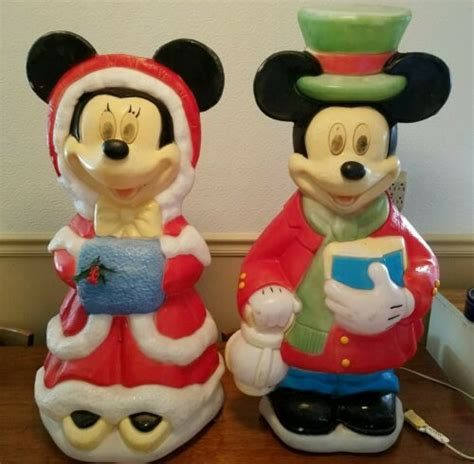 santas  disney mickey minnie mouse light  blow
