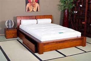 Lit En Bois : lit coffre en bois 140 190 ~ Melissatoandfro.com Idées de Décoration