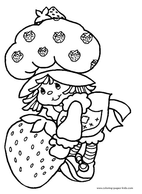 colorir  pintar strawberry shortcake coloring pages