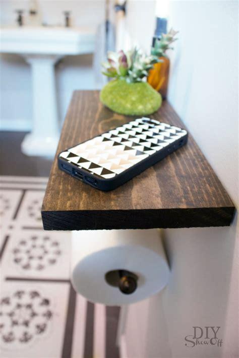 toilet paper holder shelf  bathroom accessoriesdiy show  diy decorating  home