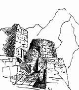 Machu Picchu Coloring Drawing Rapson Ralph Pichu Stairs Pages Searches Recent sketch template