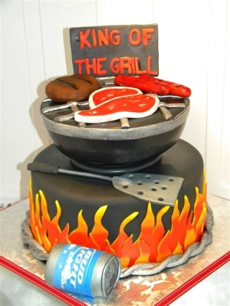 birthday bbq bbq cake happy birthday pinterest torte beer cans and beer