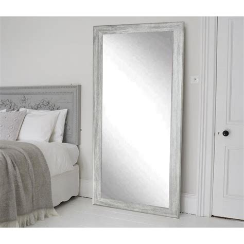 floor mirror grey weathered gray full length floor wall mirror bm035t the home depot