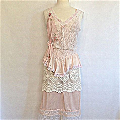 womens shabby chic clothing vintage women s slip dress upcycled from amadisloandesigns on