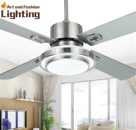 stainless steel ceiling fan light 4 blade stainless steel