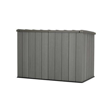 lifetime horizontal shed lifetime outdoor garbage bin 60212 brown 6 horizontal