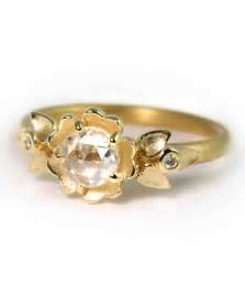 cut gold engagement rings yellow gold engagement rings martha stewart weddings