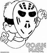 Coloring Goalie Mask Pages Coloringway sketch template