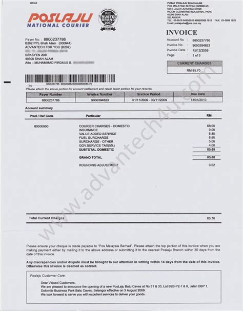 pin contoh invoice tagihan on