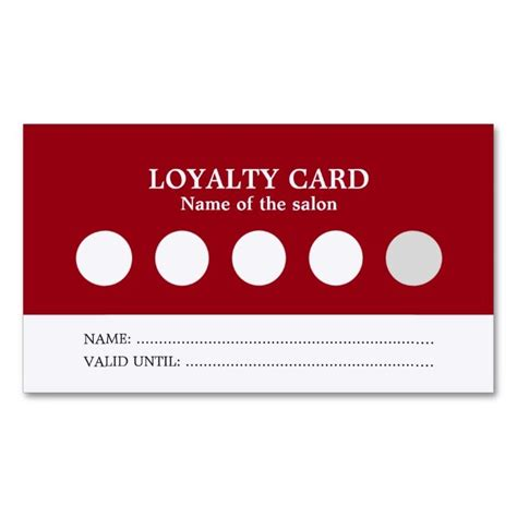 modern simple red white salon loyalty card zazzlecom