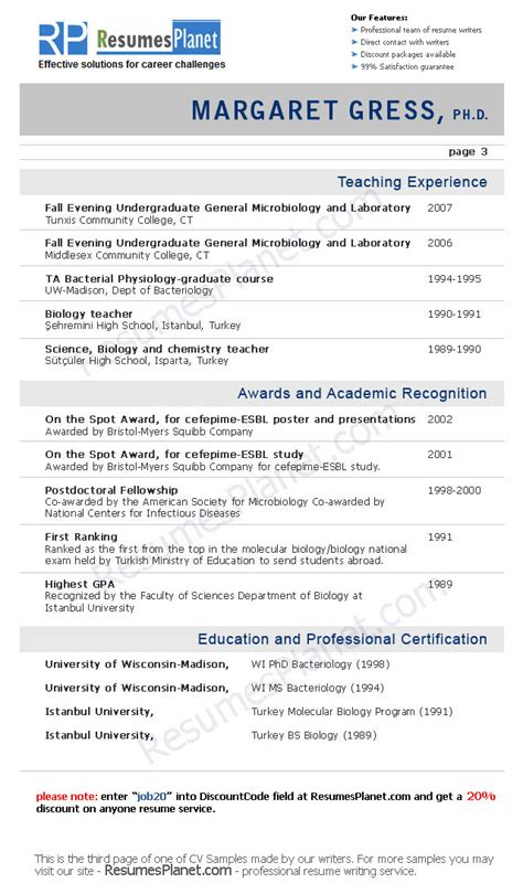 Some Exle Of Resume Letter by Cv Sles Resumesplanet