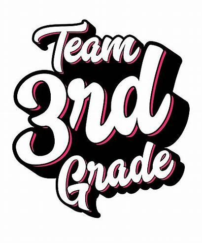 Grade 3rd Clipart Third Team Poster Redbubble