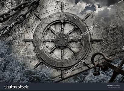 Wheel Background Steering Navigation Anchor Ship Nautical