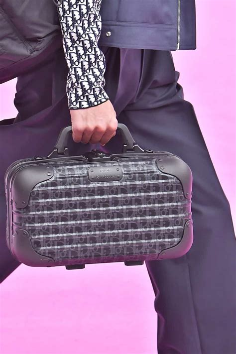 dior collabs  rimowa  spring  runway show mens bag collection spotted fashion