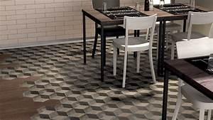 Parquet Imitation Carreaux De Ciment : pose de carrelage imitation carreau ciment avec d cor ~ Farleysfitness.com Idées de Décoration