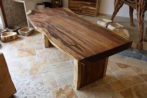Tisch baumstamm massiv suar der tischonkel for Massiv tisch