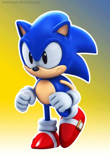 Classic Sonic - Running Animation by Elesis-Knight   Sonic ...