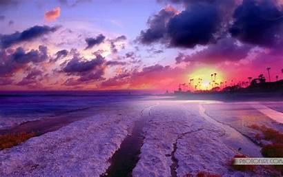 Computer Desktop Wallpapers Background Sunset Iceland Sky