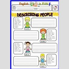 Describing People  Esl Worksheet By Bburcu