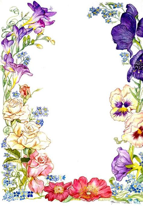 flower border stationary invitation card design