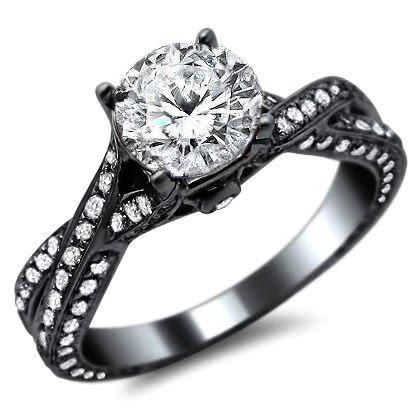 Round Diamond Pave Engagement Ring 14k In Black Gold. Neat Wedding Rings. Perspective Wedding Rings. Fake Diamond Engagement Rings. Religious Rings. Vancaro Rings. Green Rings. Coloured Wedding Rings. Larimar Rings