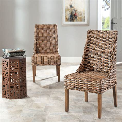 Safavieh Wicker Chairs by Safavieh St Wicker Sloping Arm Dining Room
