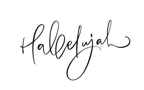 hallelujah vektorkalligraphie bibeltext christliche