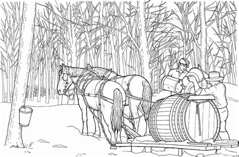 pferde mit wagen ausmalbild malvorlage bauernhof