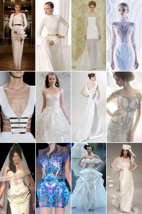futuristic wedding gowns
