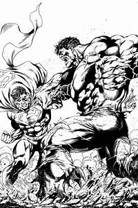 Superman VS Hulk by SousaJr on DeviantArt