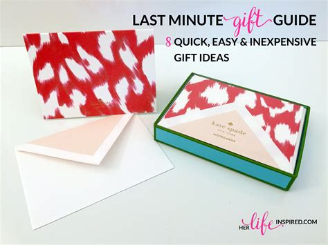 minute gift guide quick easy inexpensive gift