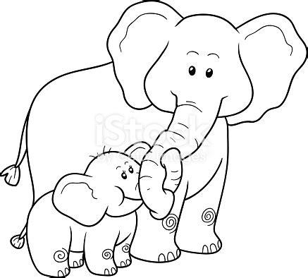 coloring book  children elephants stock vector art