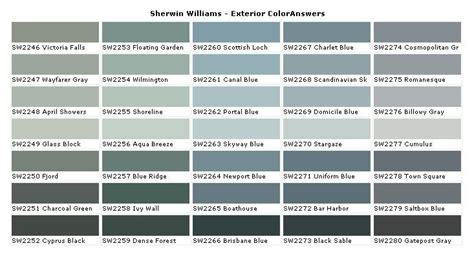sherwin williams paint color chart blue gray blue green gray paint color colors sherwin