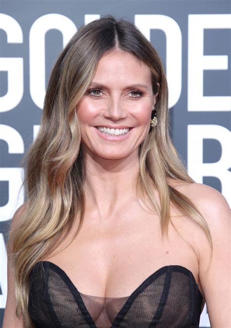 Heidi Klum Golden Globe Awards Red Carpet