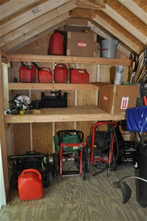 shed storage ideas how to build shed storage shelves one project closer