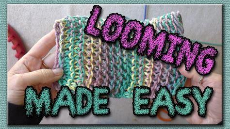 learn  basic stitches  loom knitting dish cloths