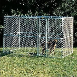 Large chain link portable dog kennel modern dog for Portable dog kennels for large dogs