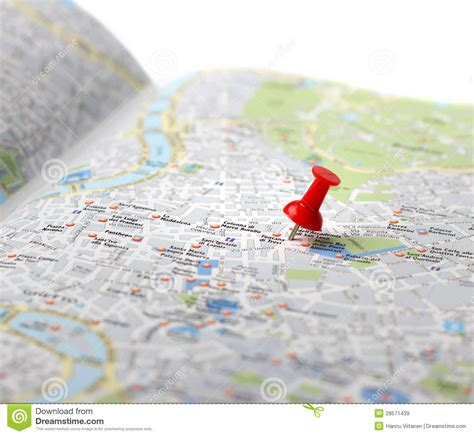 travel destination map push pin stock image image 28571439