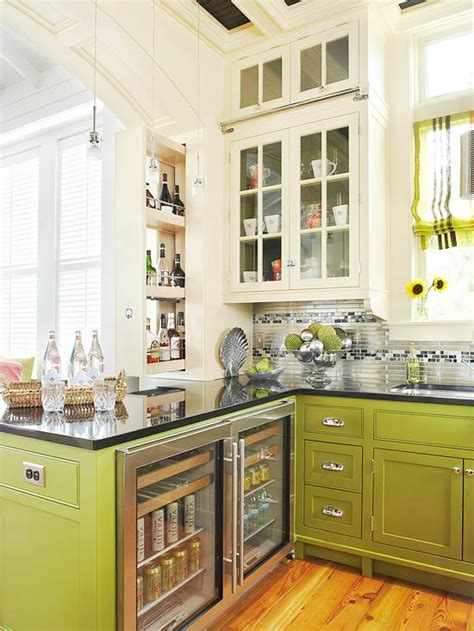Ideas For A Small Kitchen Space - two toned kitchens